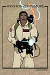 Winston Zeddemore - Ghostbusters trading card