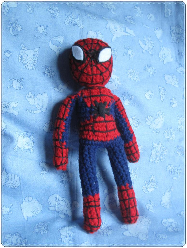 Knitting Pattern For Spiderman Doll : Spider-man Amiguri full by giraffesonparades on DeviantArt