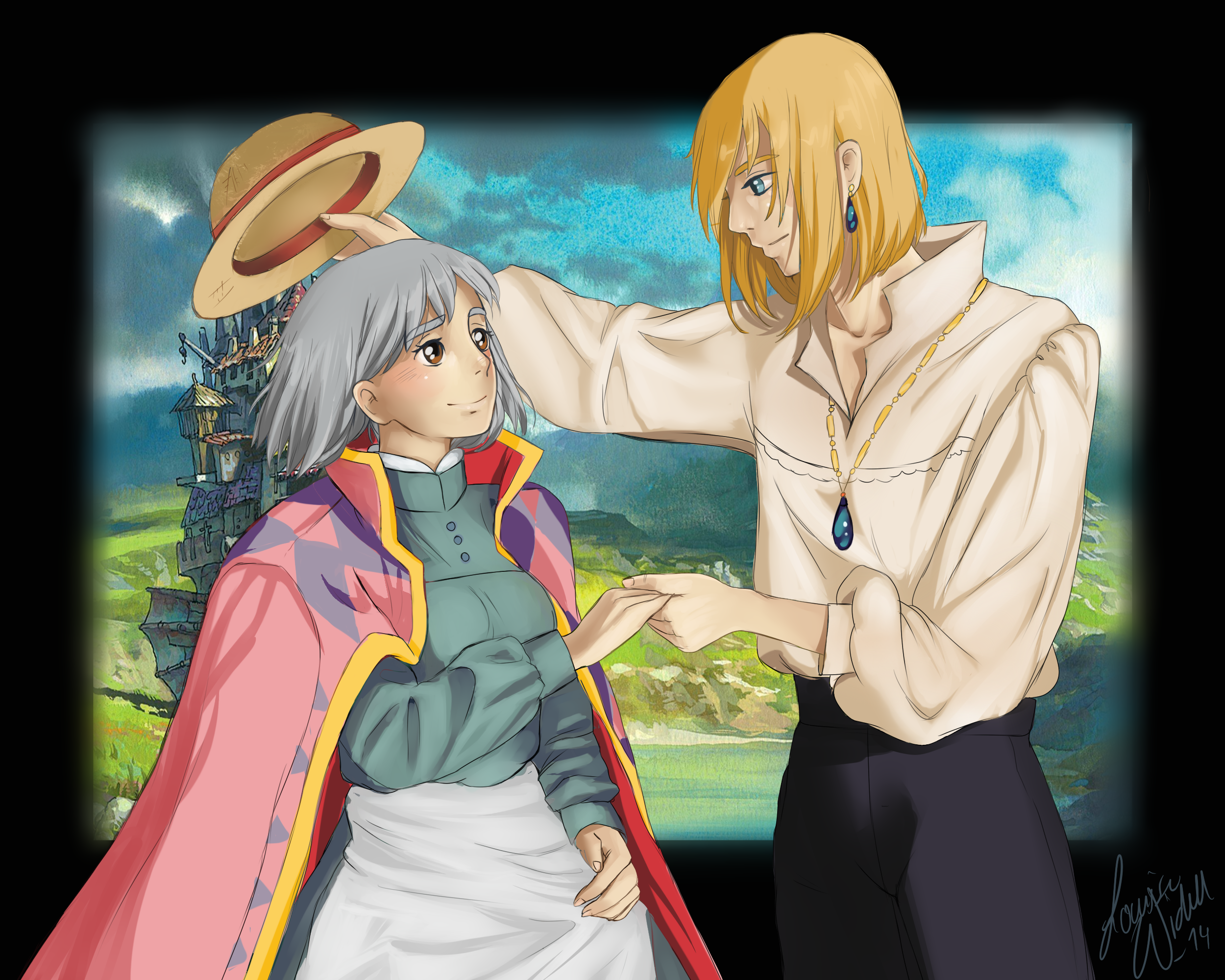 Fanart Sophie And Howl  Howls Moving Castle By
