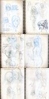 The BIG AS Sketchdump pt.3 by Martina-G