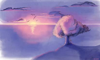 Sunset by ElissaKarminakria