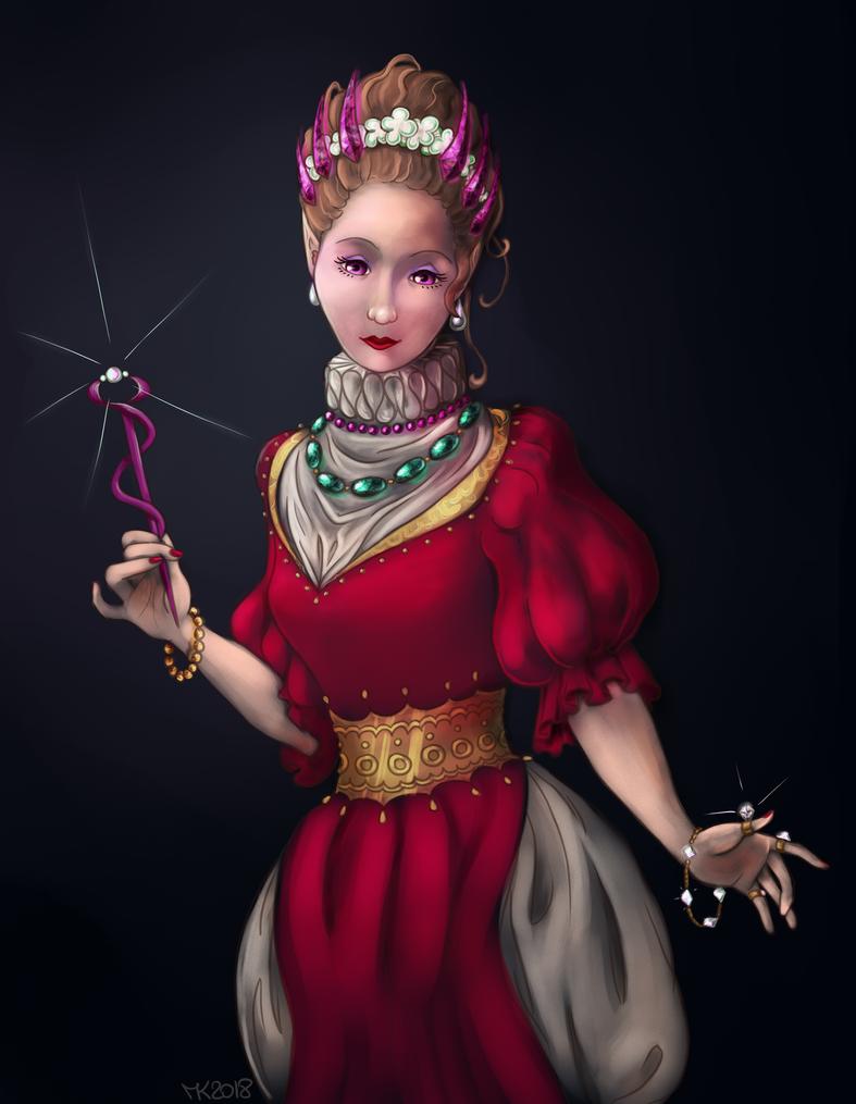 Flora, Witch of Precious Jewels by ElissaKarminakria