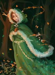 In the wood by ElissaKarminakria