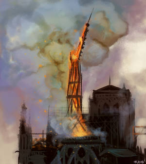 Praying for Notre-Dame