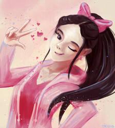 Pink peace by ElissaKarminakria