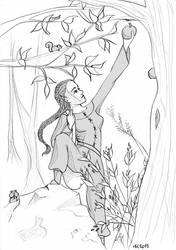 Woodgirl by ElissaKarminakria