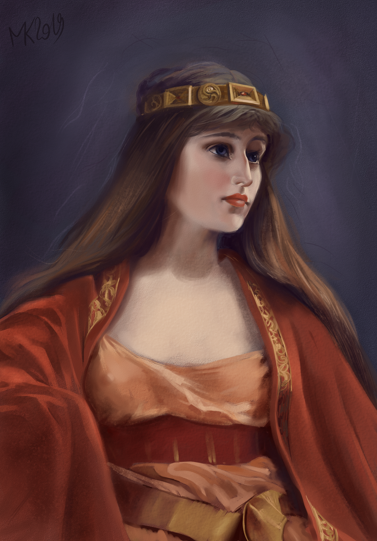Bedouin girl - Master study from Falero's artwork