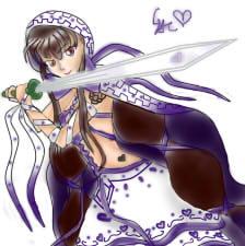 Anime Warrior Princess by de-dove