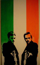 boondock saints on irish flag by pulse-