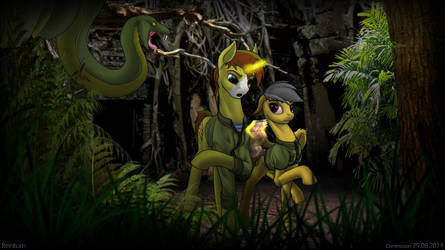 Daring Do and Allen Sparkle (oc)