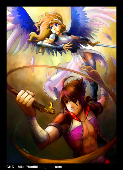 Gem Hunter and Angel by gndagnor