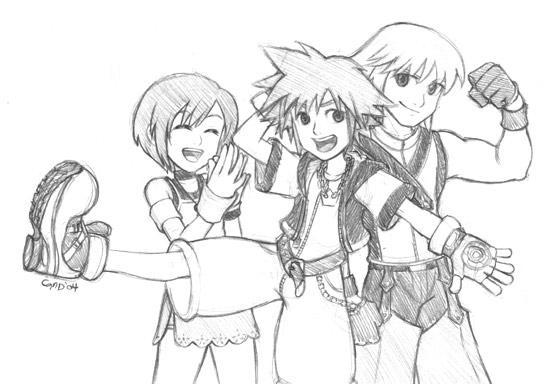 Kingdom Hearts Trio by gndagnor