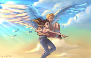 Carried By An Angel by gndagnor