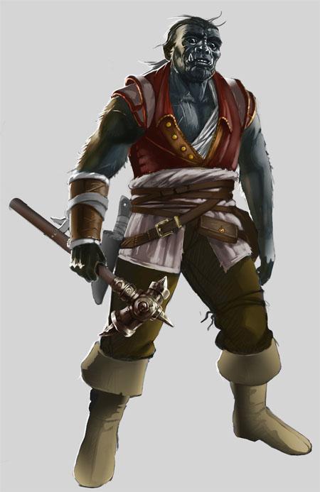 orc pirate wip by PrincepsSenatus