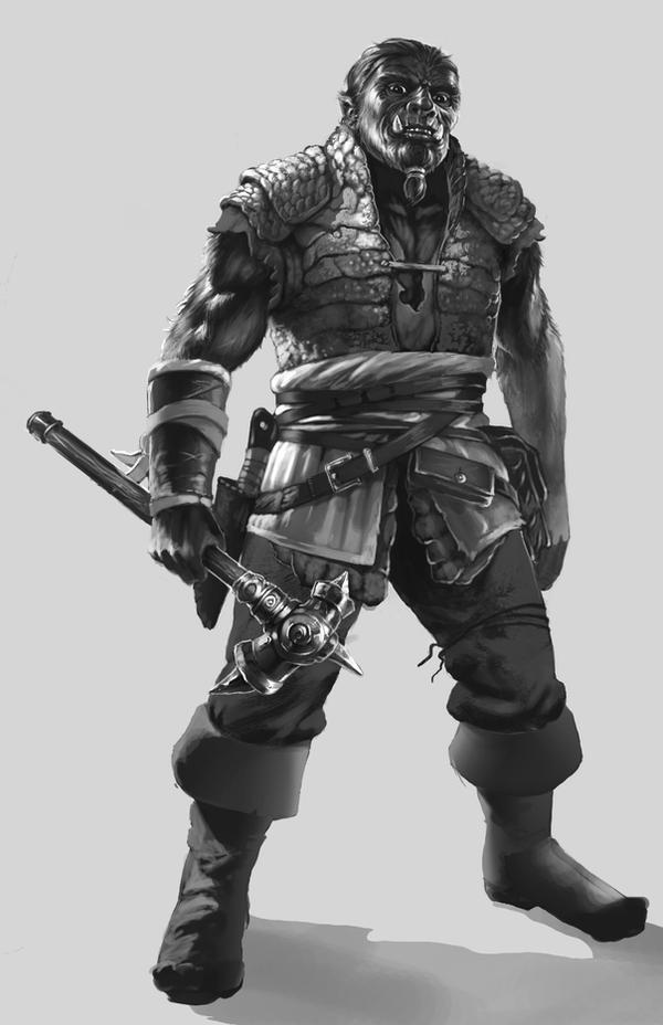 Orkzes reptilian armor by PrincepsSenatus