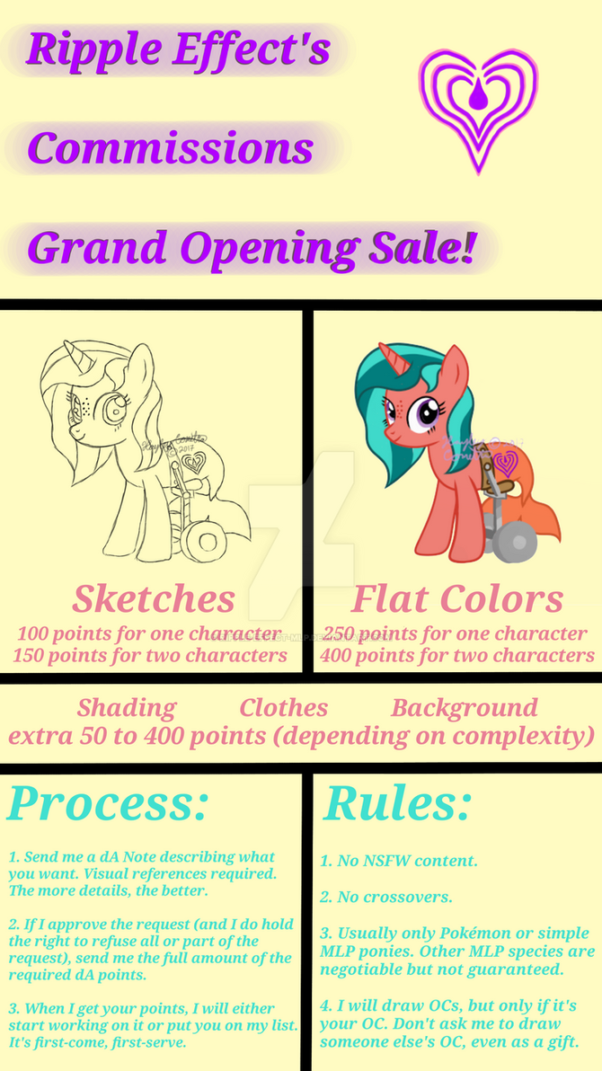 Ripple Effect's Commissions Grand Opening Sale! by Ripple-Effect-MLP