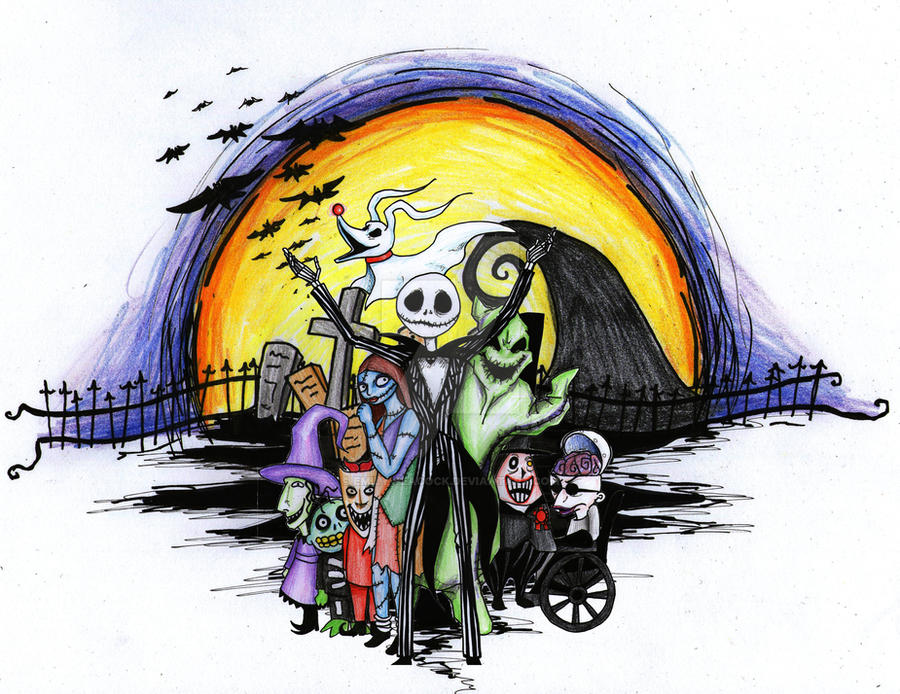 Tattoo Design of Nightmare before Christmas by Emily-Peacock on ...