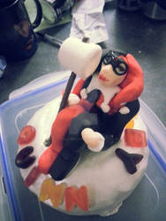 My Super Awesome Harley Quinn Birthday Cake by Emily-Peacock