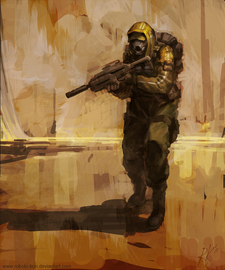Trooper Sketch by Roboto-kun