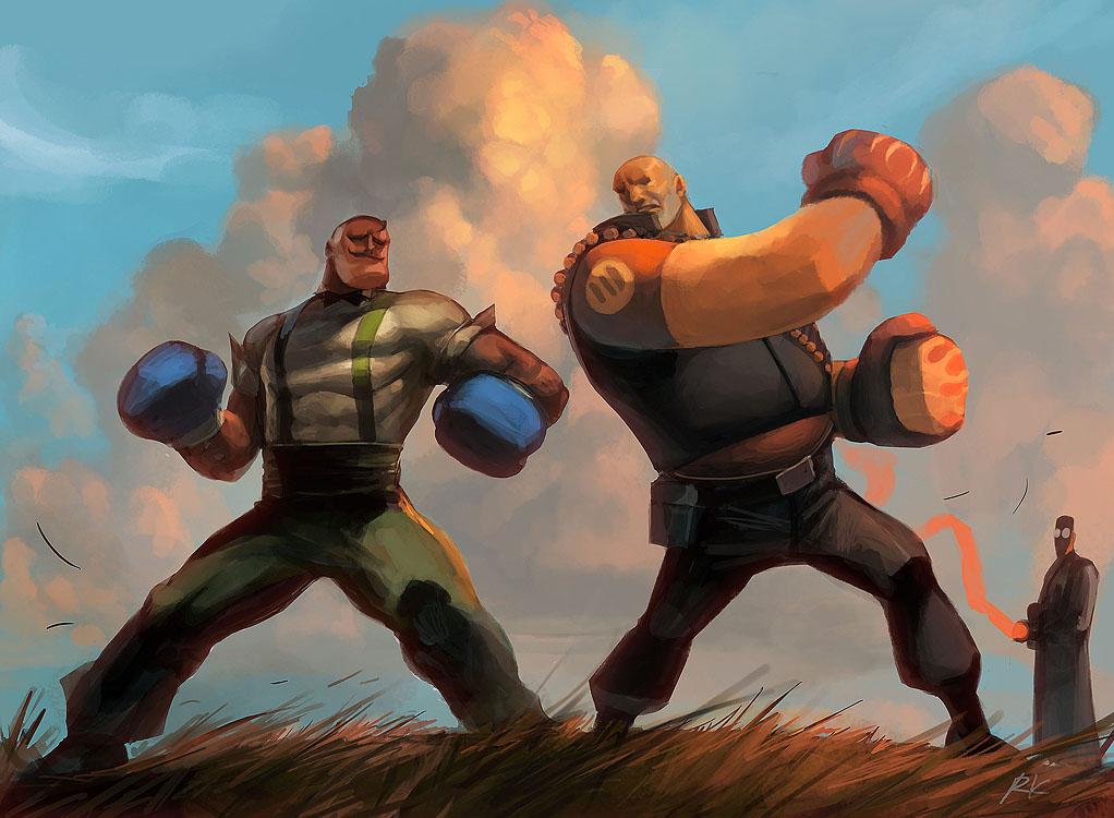 Heavyweight bout by Roboto-kun