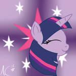 Mane6 Heads - Twilight Sparkle (Show Outline)