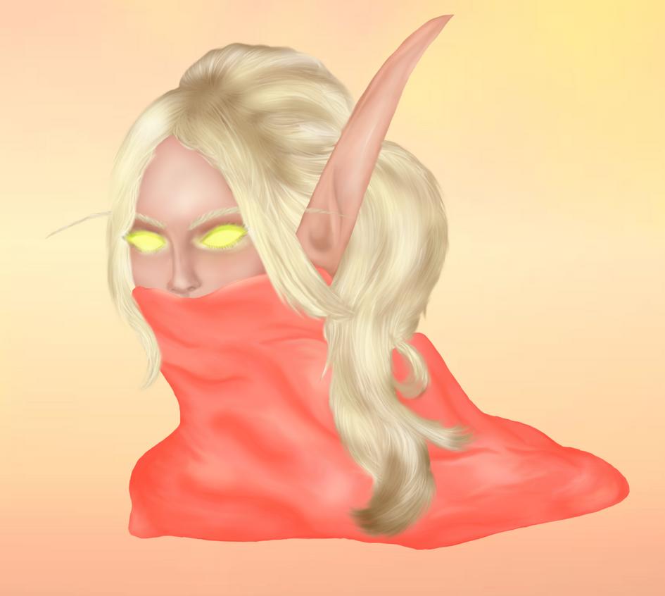 Blood elf - Painting practice by ElenaForU