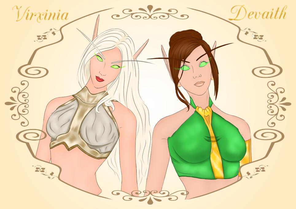 Virxinia and Devaith by ElenaForU