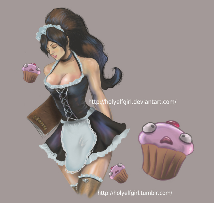 Nidalee French maid by HolyElfGirl