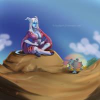 Dranei Shaman commission by HolyElfGirl