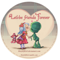 Let be friends forever valentine card by HolyElfGirl