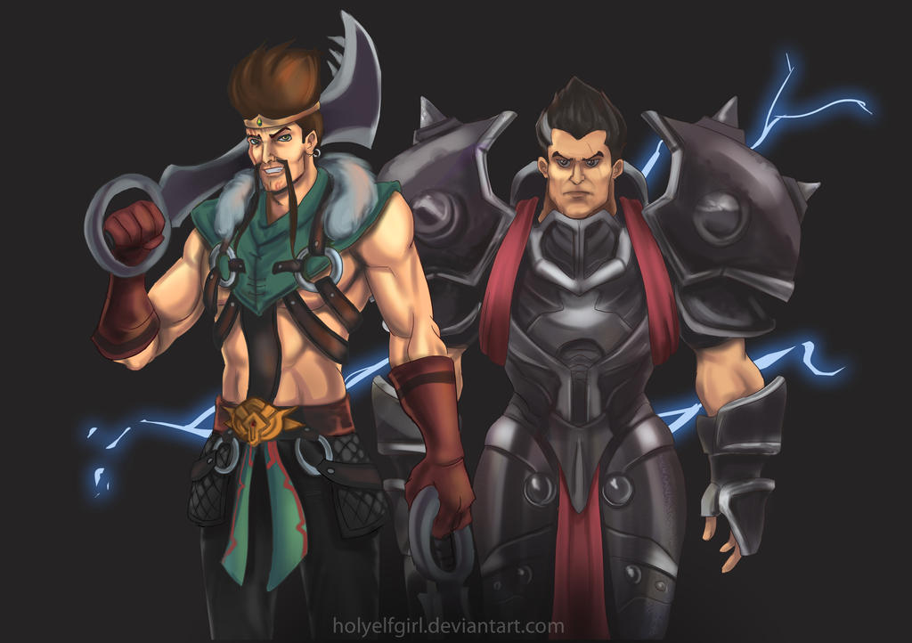 Draven and Darius by HolyElfGirl on DeviantArt