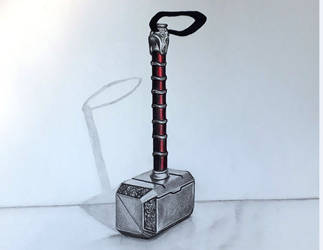 Thor's hammer in 3D by Jai-artes