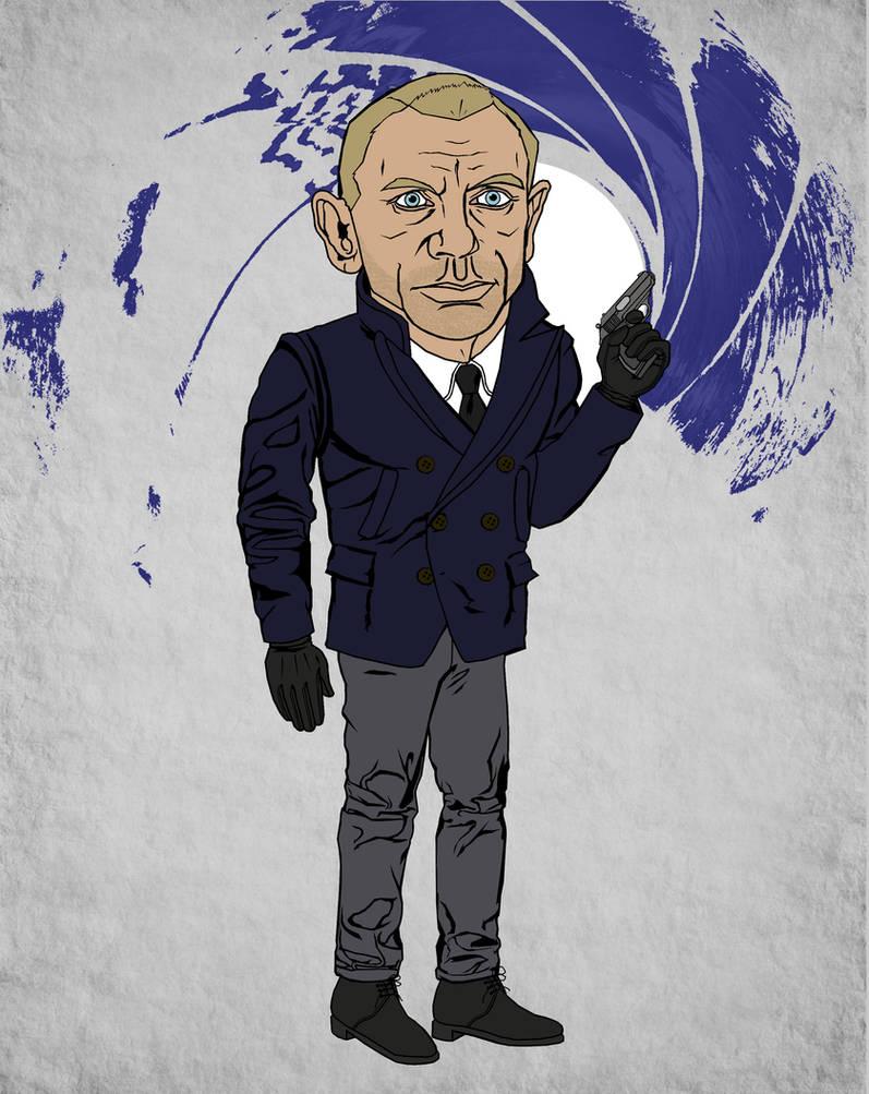 Daniel Craig James Bond 007 with Gunbarrel