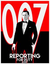 Daniel Craig Will Return Poster Variant #1