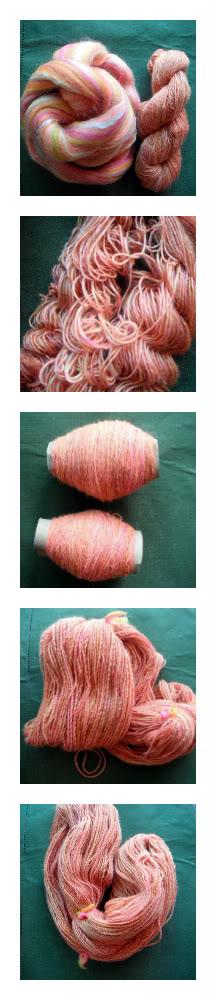 Silk and Merino Hand Spun Yarn by queenkillerx