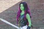 Guardians of the Galaxy Gamora cosplay by BunnyTheKid