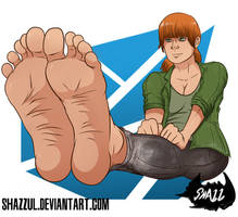 Claire's smooth soles [Commission] by Shazzul