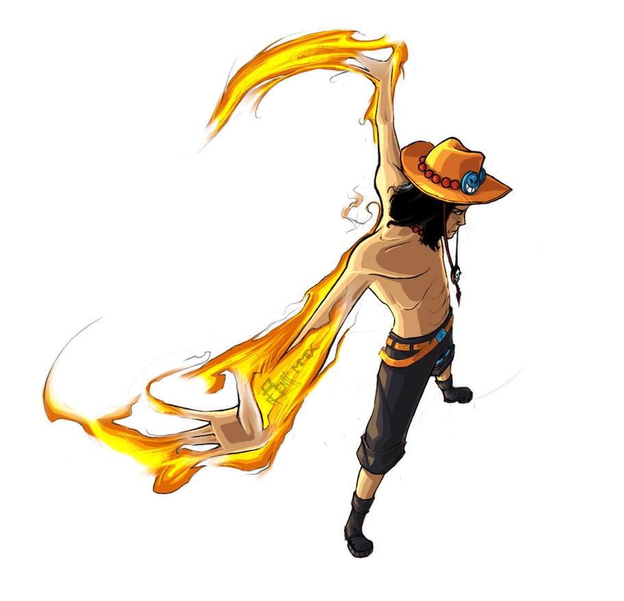 Portgas D Ace - One Piece by myrllok on DeviantArt