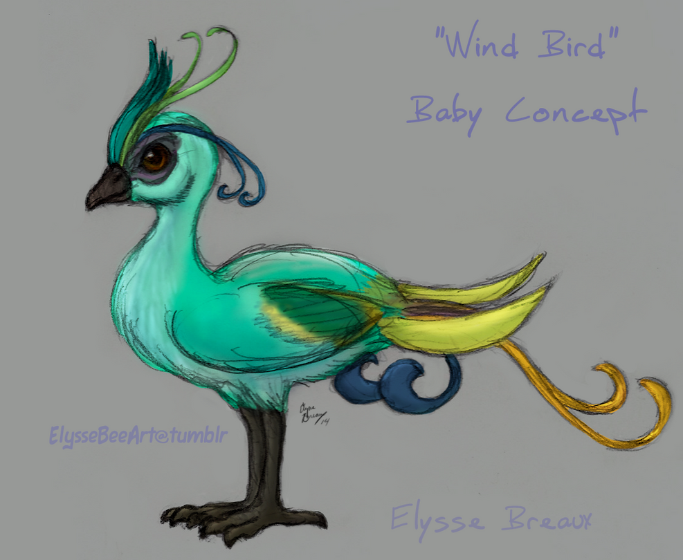 Wind Bird Baby Concept by Guiled-Dragon