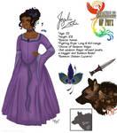 Chronicles of Phyx - Character Sheet: Jazelia by CinnaMonroe
