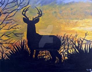 Deer At Dawn