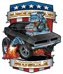 American Muscle Patriotic Classic Muscle Car