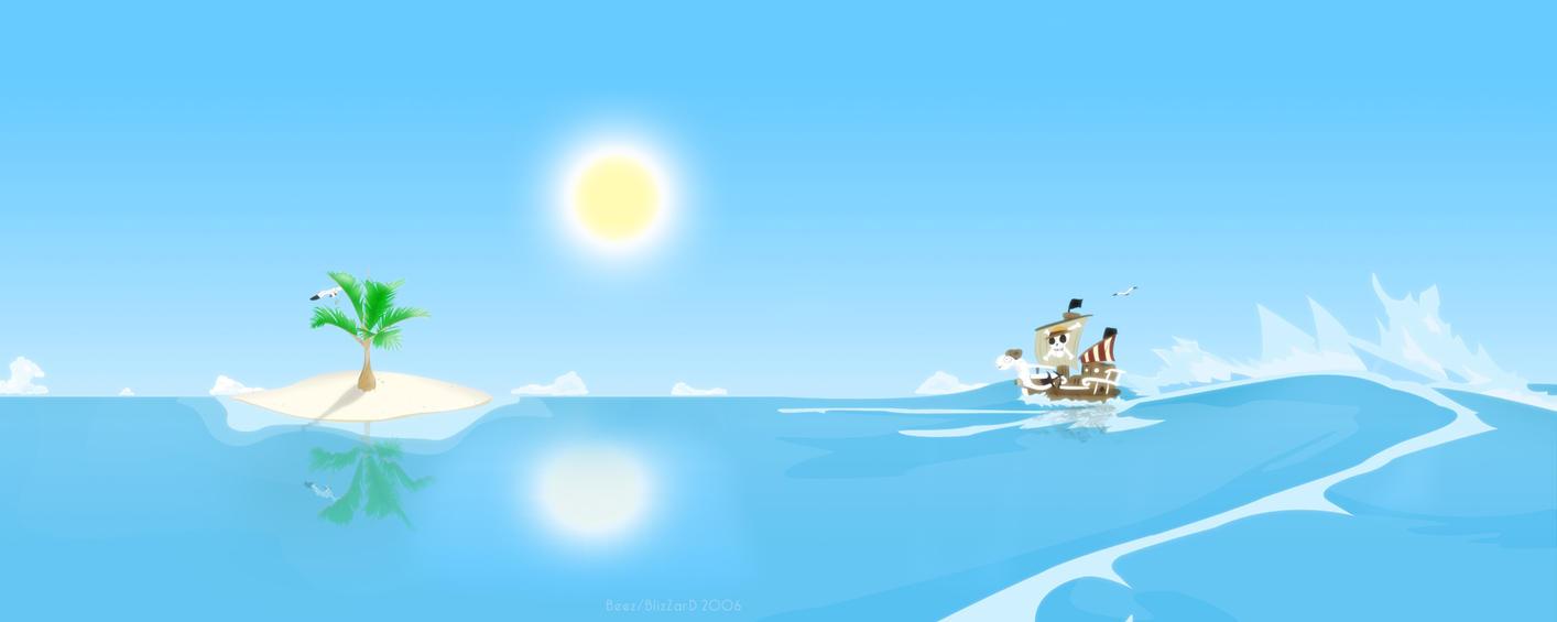 Going Merry 'n the beach by ByeNeida