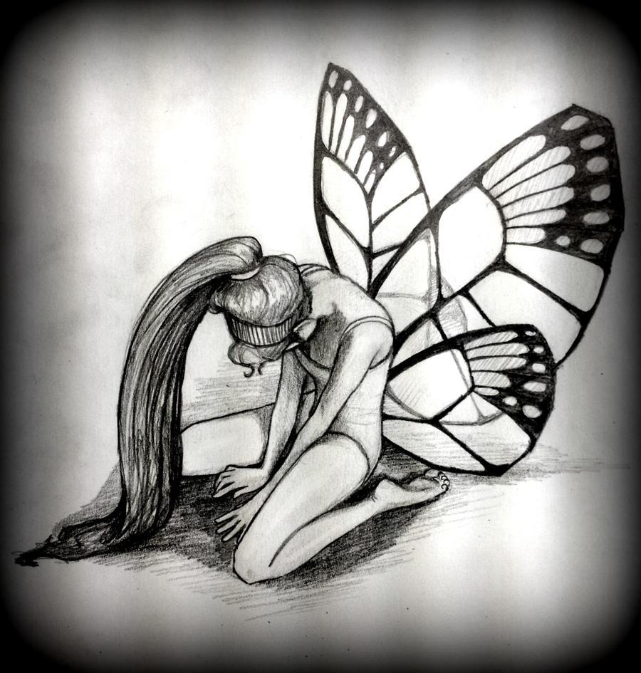 Sad Drawings - Sad Fairy By Smallscience Uxfz
