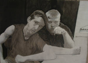 Chris and Brian in Charcoal