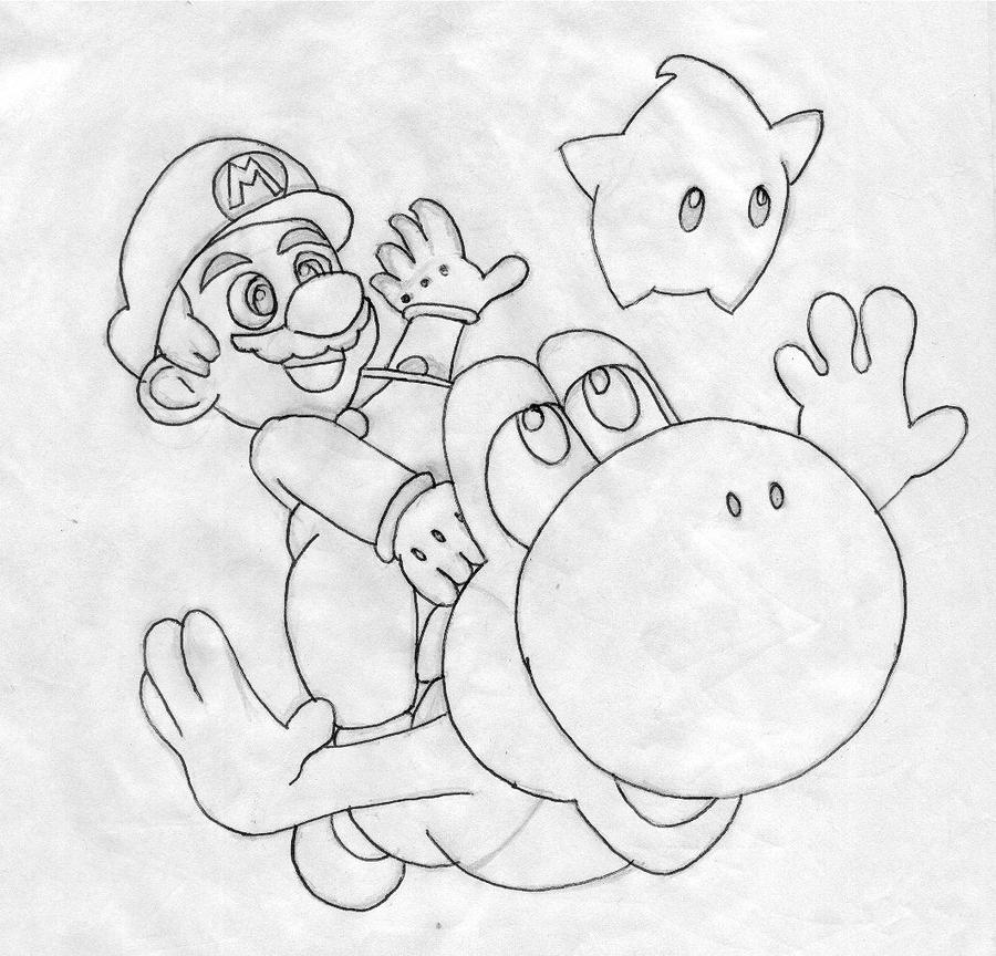 Super Mario Galaxy 2 Sketch By TheCaptainWTF On DeviantART