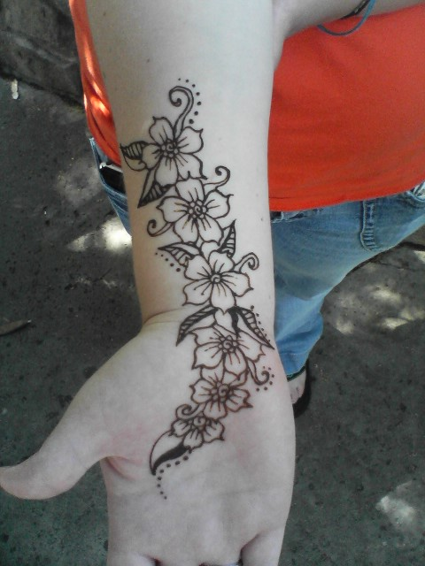 Henna Flower Wrist Tattoos: Wrist Flowers By J-deo On DeviantArt