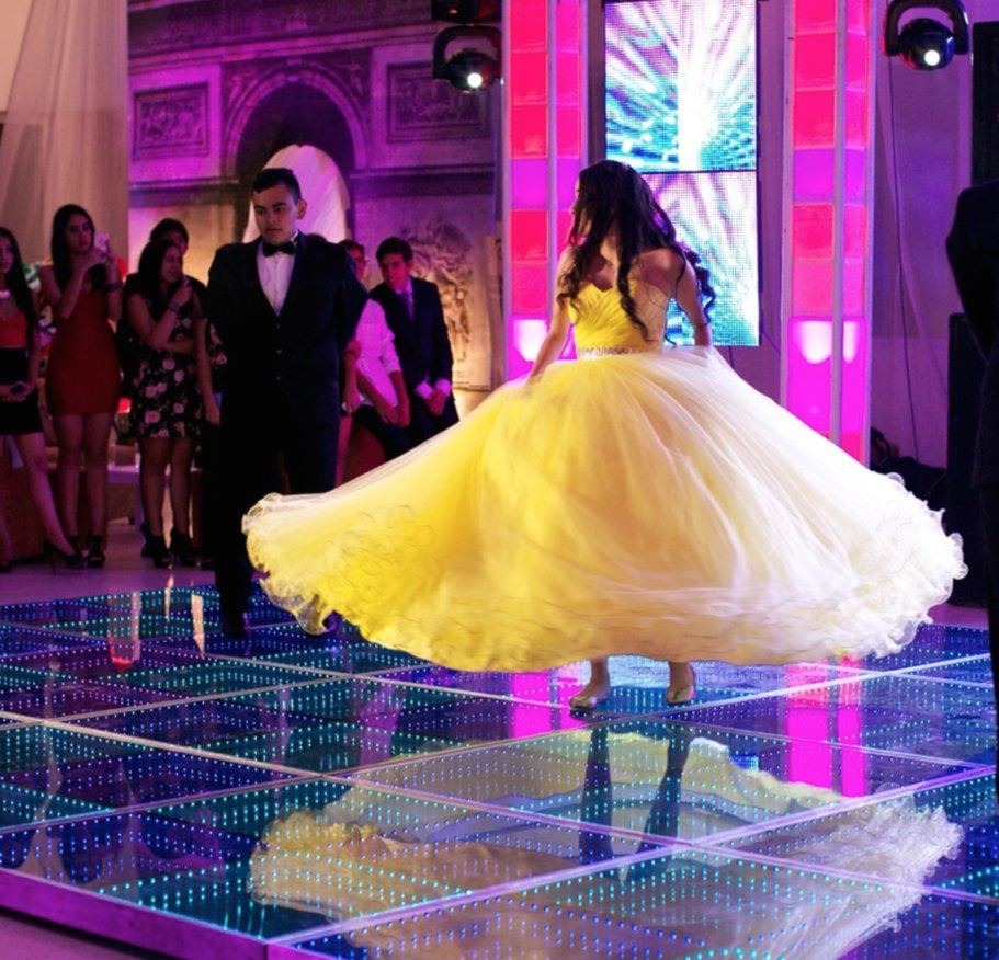Giant yellow hoop dress 2 by Albertarias