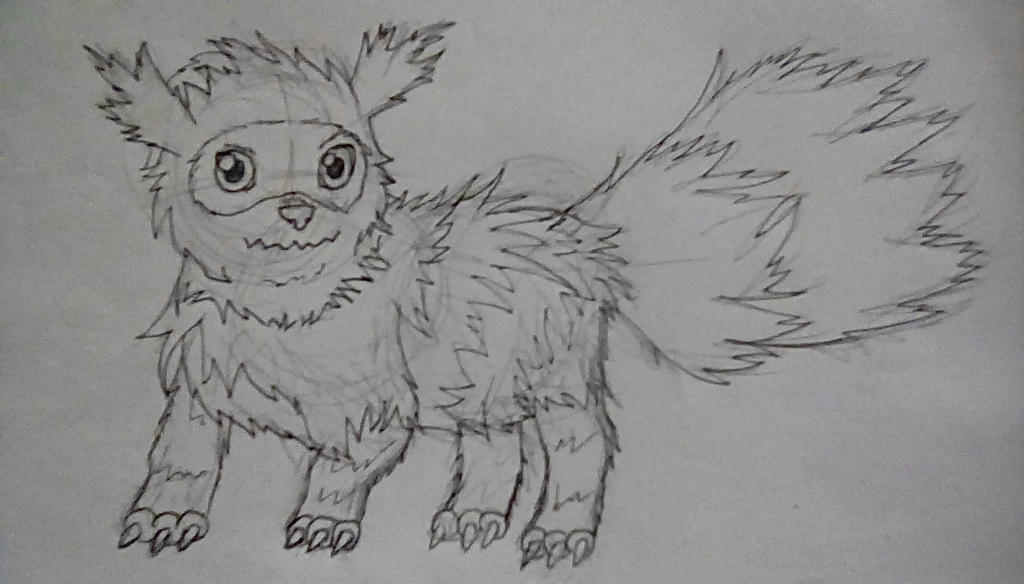 Zigzagoon Sketch by CritterCrafts