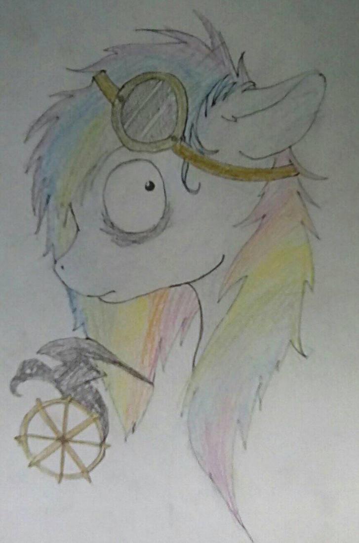 Clockwork Crow sketch by CritterCrafts